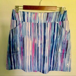 Jofit Skort - S blue /pink /white stripe,